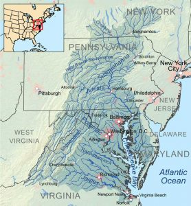 Chesapeake Watershed courtesy Wikipedia.