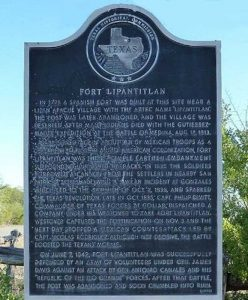 Fort Lipantitlan, Texas Historical Marker