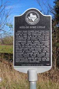 Fort Lyday, Texas Historical Marker