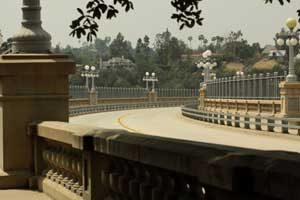 Colorado Street Bridge in Pasadena, California by Jim Hinkley.