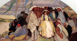 Return of the tribes to Fort Orleans from Paris