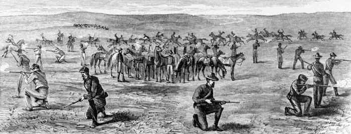The Seventh Cavalry by Theodore R. Davis, 1867