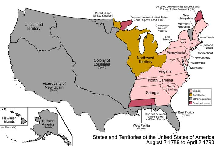 States and Territories, 1789