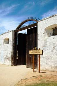 Sutter's Fort Entrance in Sacramento, California by Kathy Weiser-Alexander.