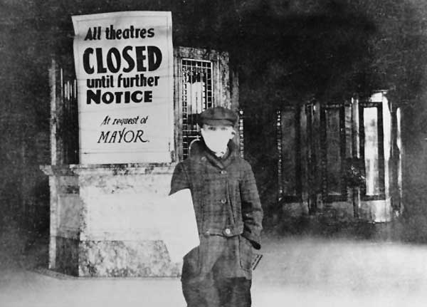 Theater closed due to flu pandemic of 1918.
