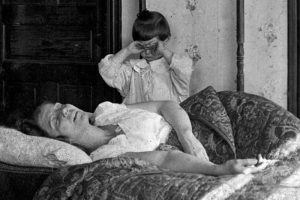 This flu victim was saved when her younger sister called the Red Cross for help, November 1918.