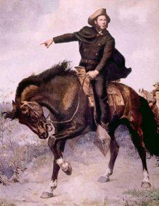 General Sam Houston at the Battle of San Jacinto