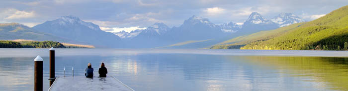 Lake McDonald at Glacier National Park, Montana by the National Park Service.