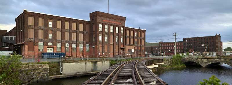 Industrial buildings in Holyoke, Massachusetts by Carol Highsmith.