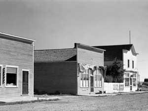 Business buildings in Homestead, Montana by Marion Post Woolcott, 1941