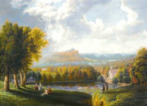 Hudson River Valley, New York by Robert Havell, 1866.