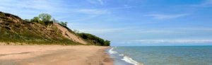 Central Beach at Indiana Dunes National Lakeshore by the National Park Service.