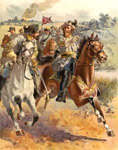 J.E.B. Stuarts rides  around George McClellan,  June, 1862 by Henry A. Ogden, 1900.