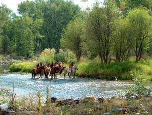 Lewis and Clark National Historic Trail Reenactment on Lemhi River, Idaho by Antonia Hedrick, Bureau of Land Management.