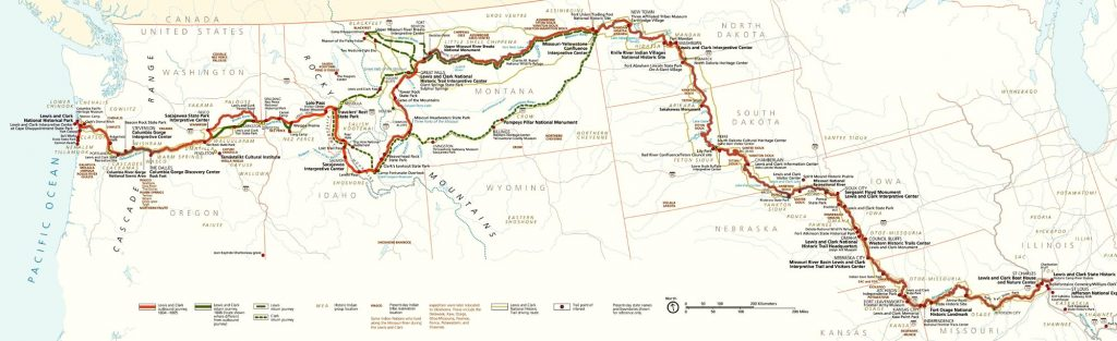 Lewis & Clark Expedition Map by the National Park Service.