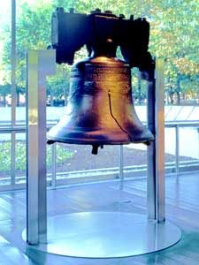 The Liberty Bell in Philadelphia, Pennsylvania.