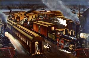 Lightning Express by Currier and Ives, 1876