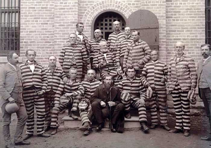 Mormon polygamists in Utah Penitentiary, about 1889