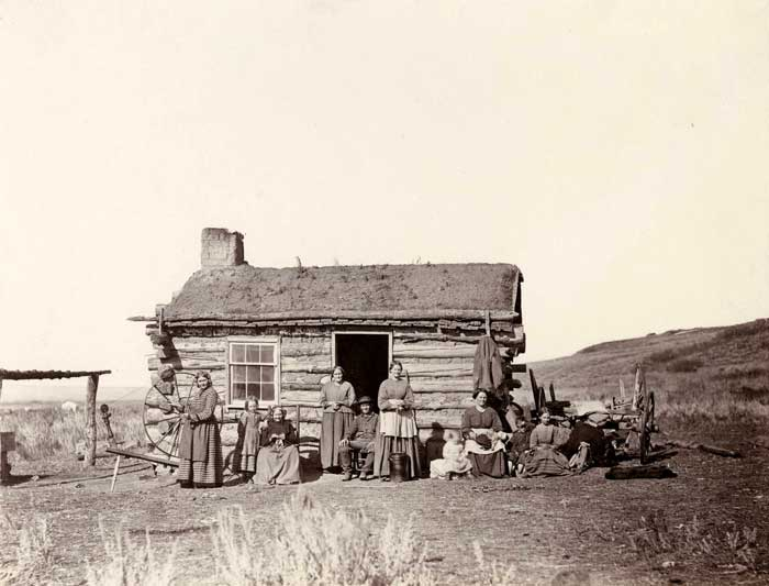 Mormon Family in the West by Andrew J. Russell, 1870.