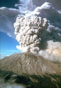 Mt. St. Helens Eruption, Washington, 1980.