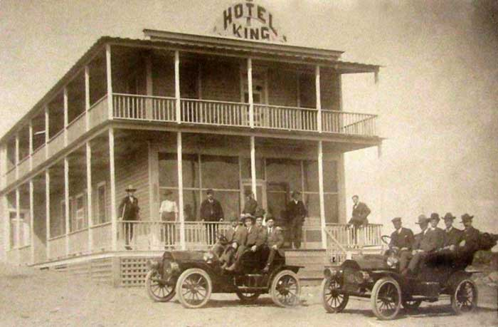 King Hotel in Nara Visa, New Mexico, early 1900s.
