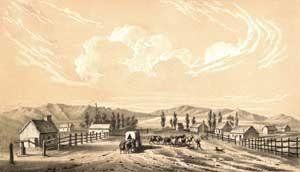 Salt Lake City, Utah by James Ackerman, 1851