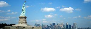 Statue of Liberty and Manhattan, New York