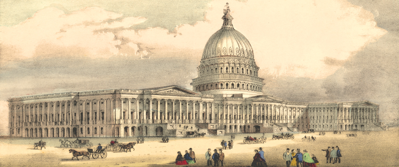 United States Capitol, Washington, DC, by Currier & Ives, about 1873
