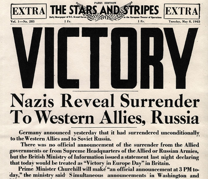 World War II ends.