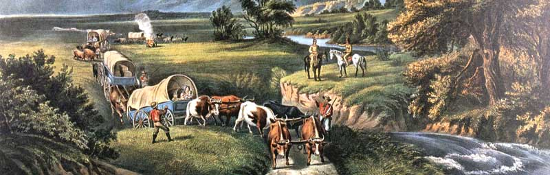 Westward Expansion by Currier & Ives, 1866.