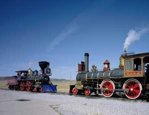 Engines Meet, Golden Spike, Promitory Summit, Utah by Carol Highsmith.