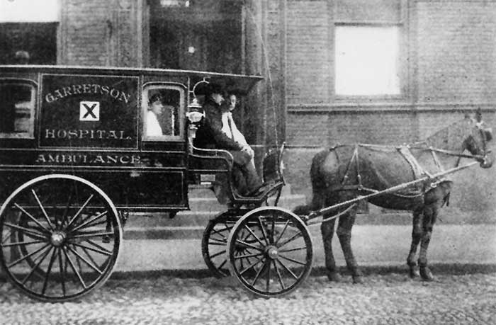 Horse Drawn Ambulance, 1918.