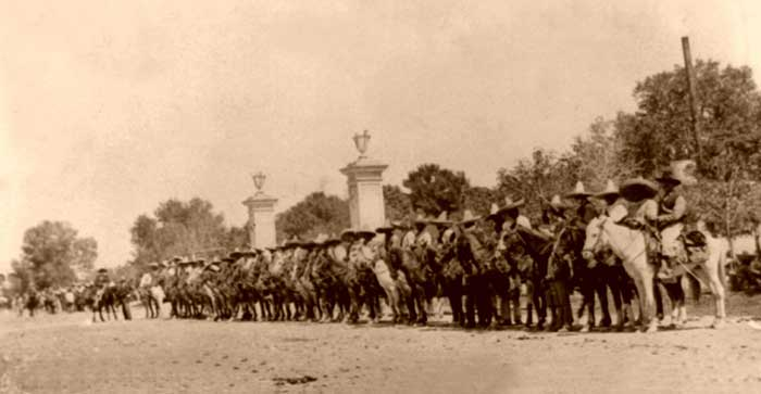 Carranza's forces ready to charge, 1914.