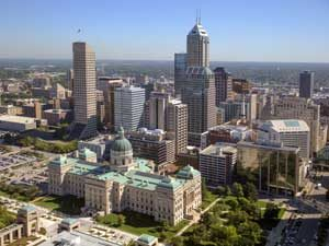 Aerial view of Indianapolis, Indiana by Carol Highsmith.