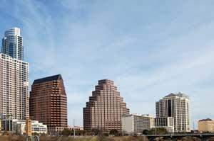 Austin, Texas Skyline by Kathy Weiser-Alexander.