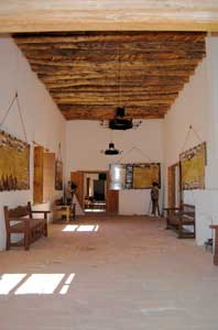 Interior of Fort Leaton, Texas by Kathy Weiser-Alexander.