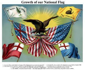 Growth of the National Flag, 1885.