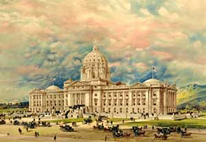 Capitol building in Helena, Montana, 1896.