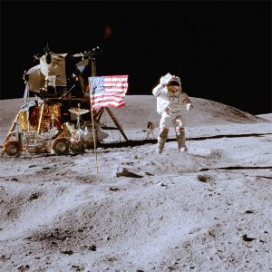 U.S. Flag on the Moon by NASA.