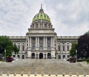 The Pennsylvania State Capitol in Harrisburg by Carol Highsmith.