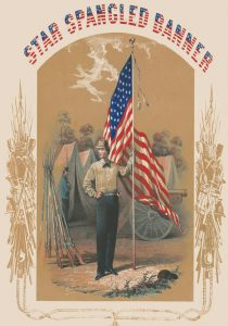 The Star-spangled Banner by James Fuller Queen, 1861.