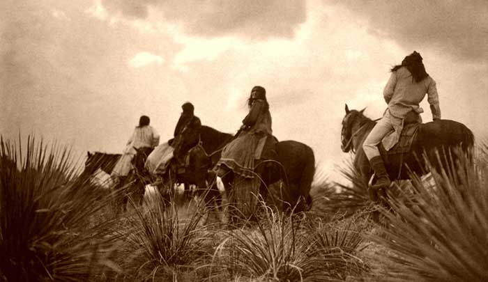 Apache Before the Storm, Edwards S. Curtis, 1906