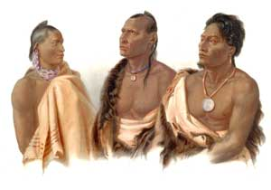 Missouria, Otoe, & Ponca Indians by Carl Bodmer.