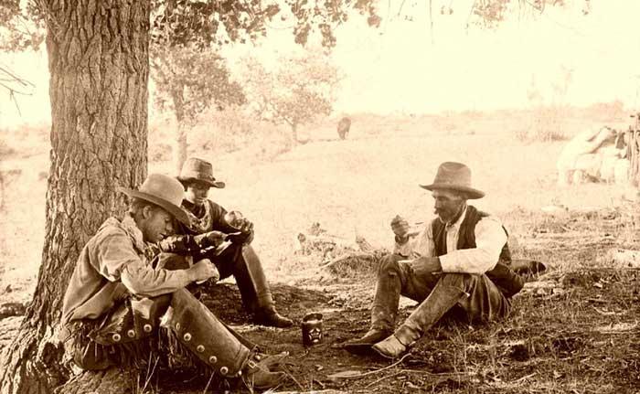 Taking a break in Tascosa
