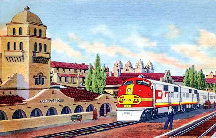 Atchison, Topeka & Santa Fe Railroad in Albuquerque, New Mexico.