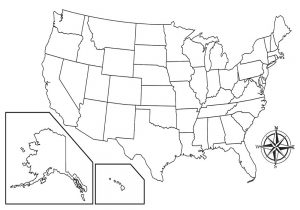 Blank U.S. Map with State Lines