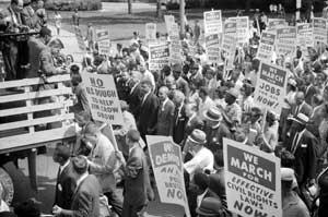 Civil Rights March, Washington DC, by Warren K. Leffler, 1963
