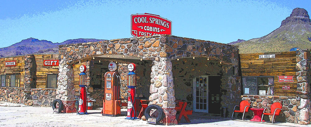 Cool Springs, Arizona Graphic Art by Kathy Weiser-Alexander.