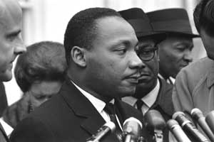 Martin Luther King, Jr at the White House by Warren K. Leffler, 1963