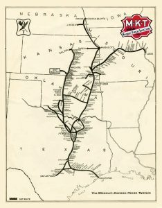 Missouri-Kansas-Texas Railroad Map